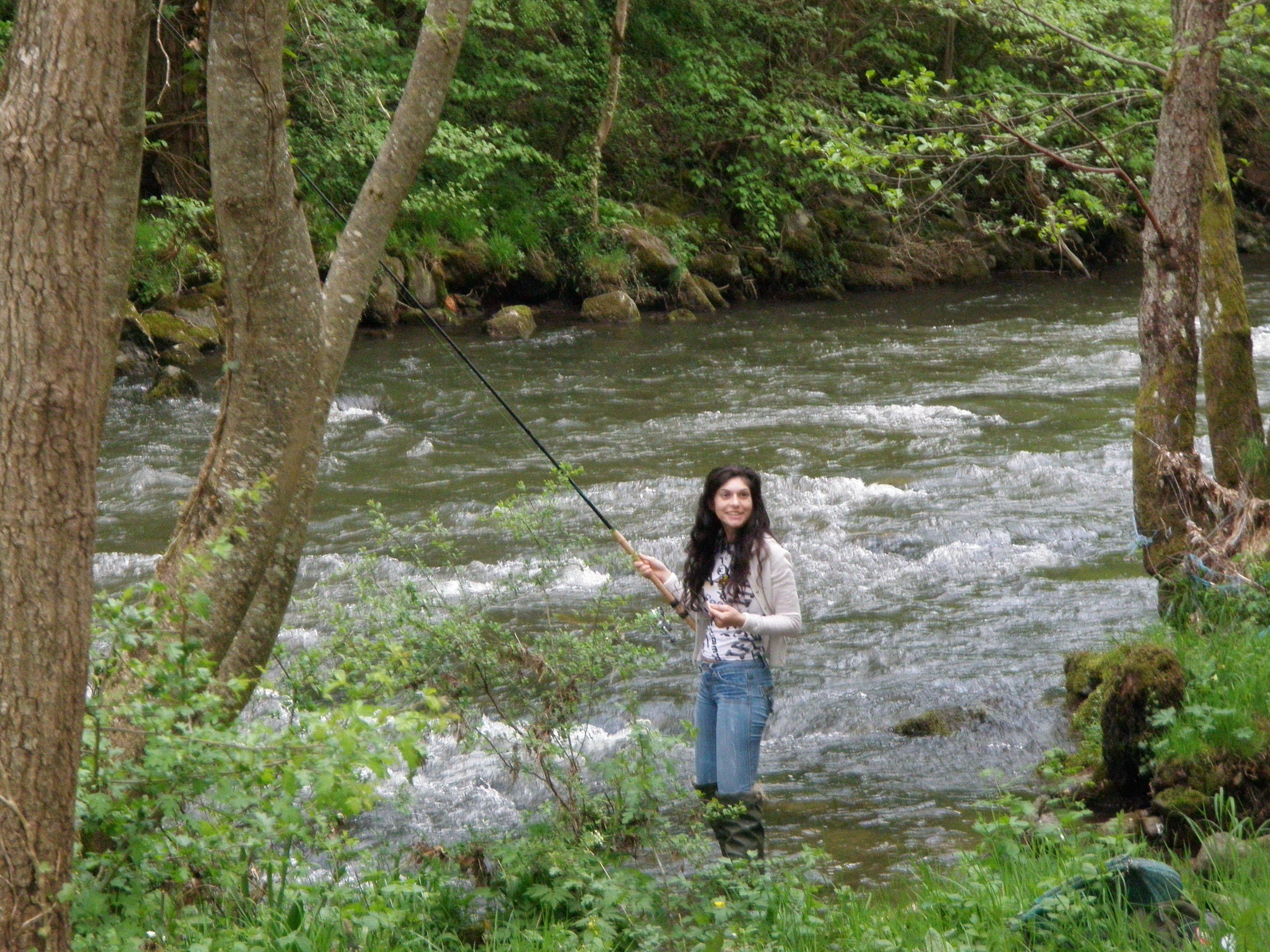 La pêche payante la truite dhiver